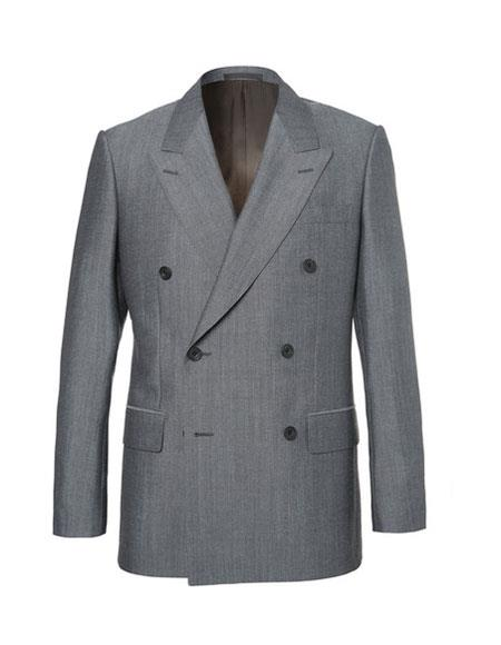 kingsman eggsy grey Double Breasted Wool and mohair blend suit