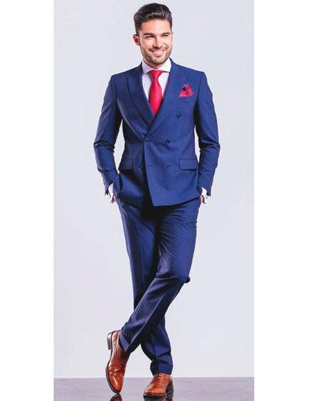 Royal Double Breasted Dress Suits for Men