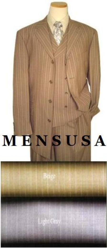SKU# EBM133 Dress To Impress~ 34 Ich Jacket Vented 4 Button Double Breasted Vest Come With Wide Leg Pants $159