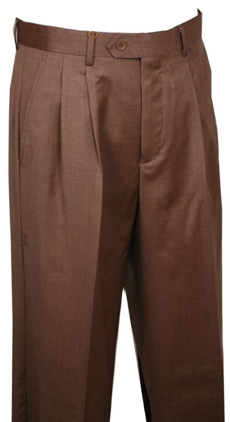 SKU#WE412 Dress Pants Bronze Pattern Wide Leg Wool $79