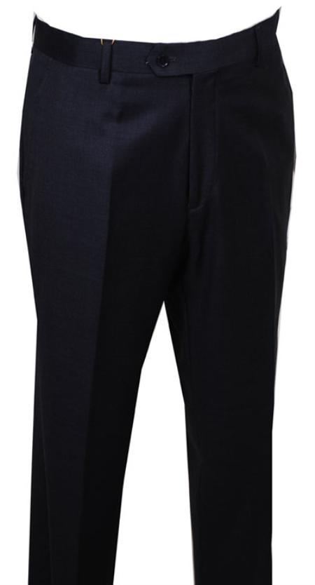 SKU#FG115 Dress Pants Charcoal without pleat flat front Pants