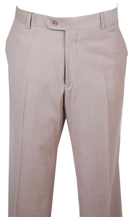SKU#BJ423 Dress Pants Gold Shadow Stripe without pleat flat front $89