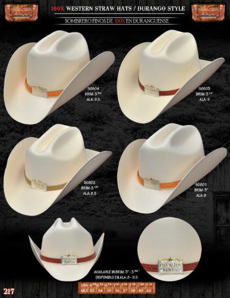 a408cdbefbdc9 100x Tejana Durango Style Western Cowboy Straw Hats