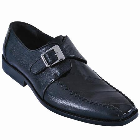 Eel/Leather Dress Shoe Black