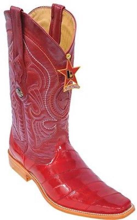 Buy KA3891 Eel Classy Vintage Riding Red Los Altos Men's Western Boots Cowboy Classics