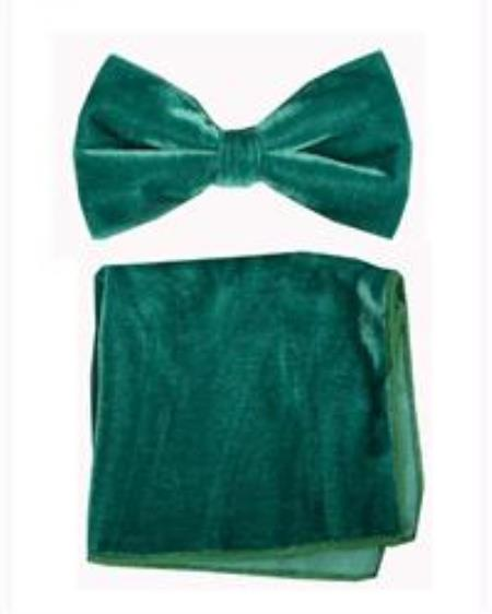 Bowtie with Hanky Emerald
