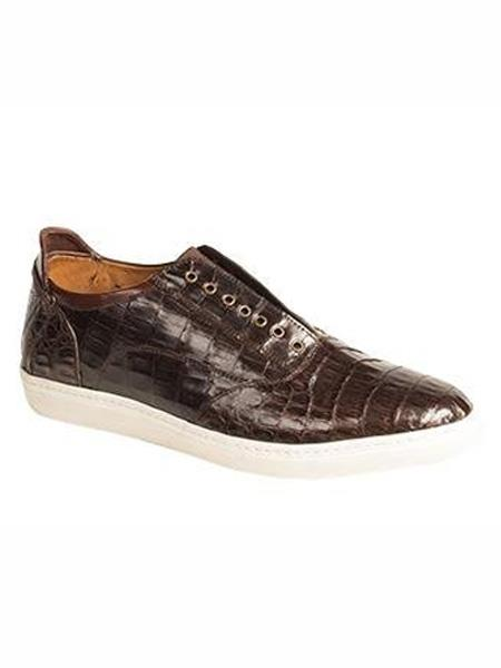 Men's Wingtip Lace Up Style Brown