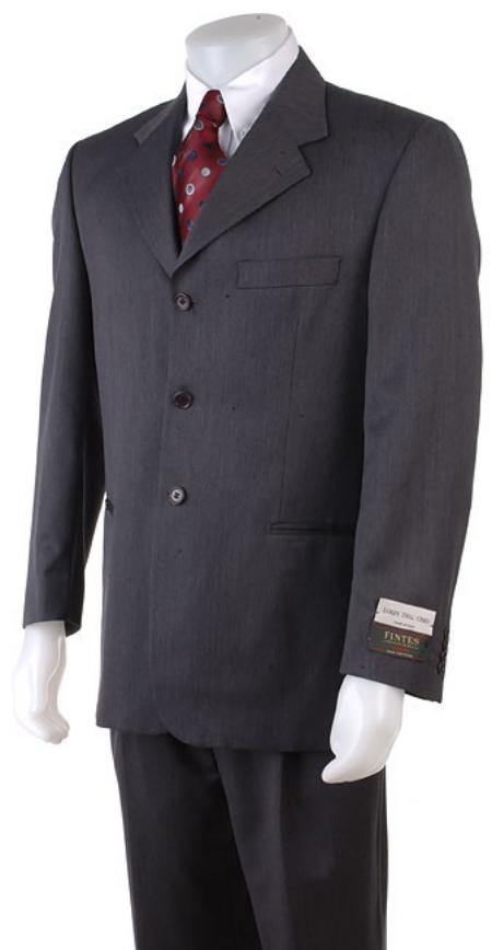 SKU# ENG203 English Gray Double Vent 3 Buttons Super150s Wool Mens Suits