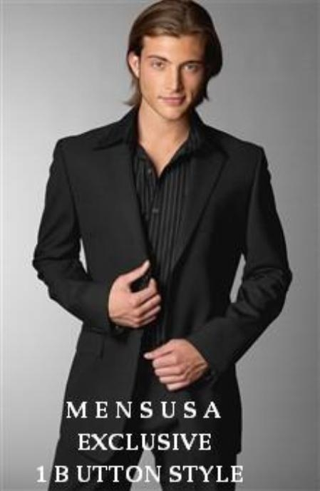SKU#R+B Emi_Ts24 Exclusive 1 One Button Style Mens Dress Suit Come in 4 Colors $174