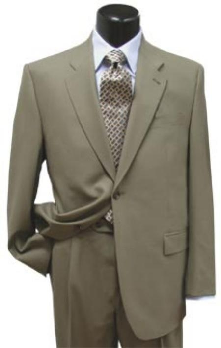 SKU#AS341 Exclusive Taupe(dark grayish-brown~Olive) 1 Button Suit Hand Made Notched $174