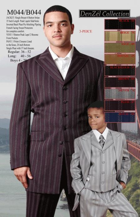 Mens Fashion Suit with Lapeled Vest $119