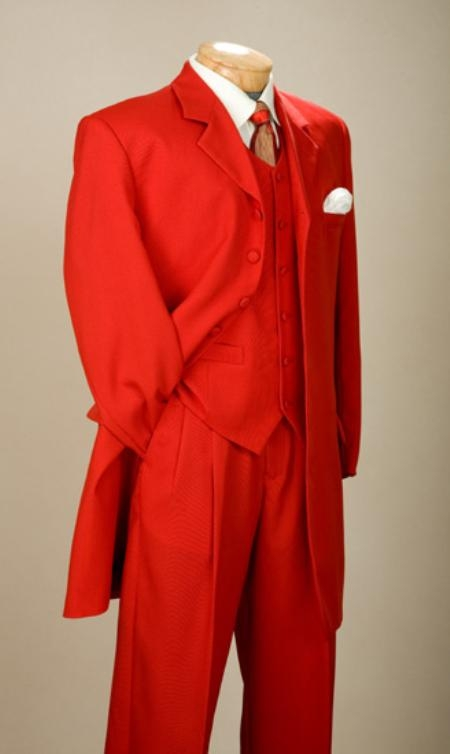 SKU#EMIL_58TA  Fashionable Fire Engine Red Mens Zoot Suits $165