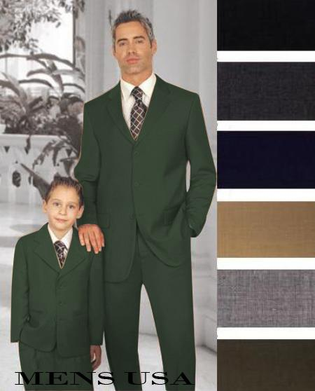 1 Men + 1 Boy Matching Set For Both Father And Son 2 For $278 Suit Charcoal Grey Perfect for toddler wedding  attire outfits