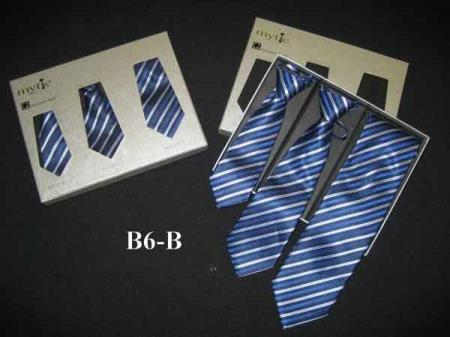 Buy SM360 Blue Fabric Protector Stain Resistant Mytie Father Sons Matching Ties Set