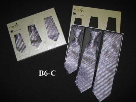 Buy SM365 Fabric Protector Stain Resistant Mytie Purple Father Sons Matching Ties Set