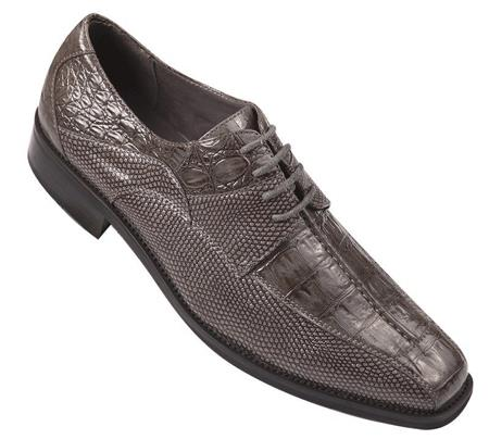 Faux Leather Embossed Mens