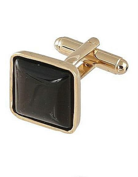 Mens Ferrecci Favor Brown Cuff Links 3Pcs Set With Fancy Gift Box