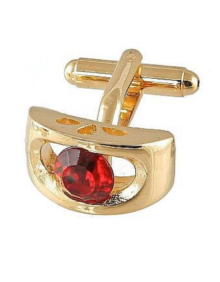 Buy Xk 0072G Ferrecci Favor Red Cuff Links Set Fancy Gift Box