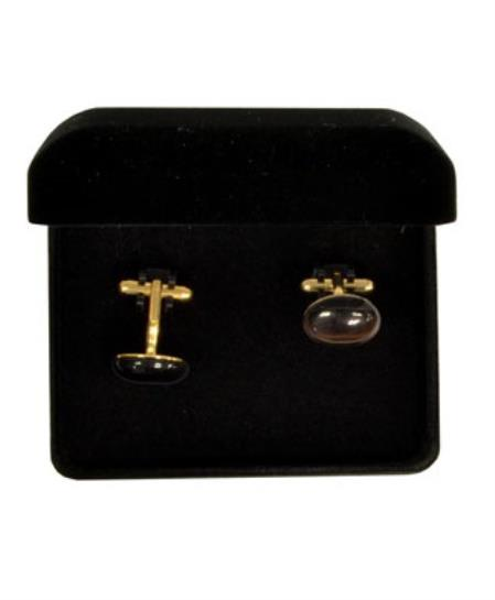 Buy VS020G Ferrecci Brown Favor Cuff Links 2pieces Set Gold Fancy Gift Box