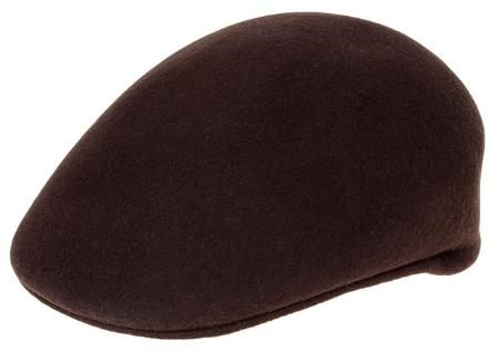 SKU#HT0480 Mens Wool Brown Drivers Cap