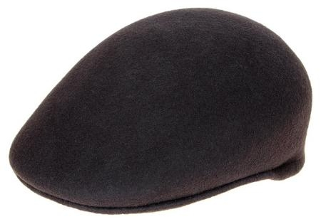 SKU#DH9472 Ferrecci Mens Wool Charcoal Drivers Cap $49