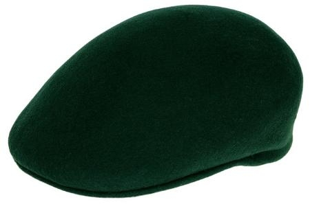 SKU#BD4947 Ferrecci Mens Wool Hunter Green Drivers Cap $49
