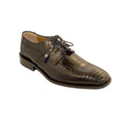 SKU#KA1380 Ferrini Black Genuine Ostrich Leg Shoes