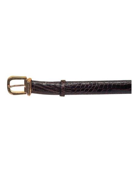 Ferrini Chocolate All-Over Genuine World Best Alligator ~ Gator Skin Belt