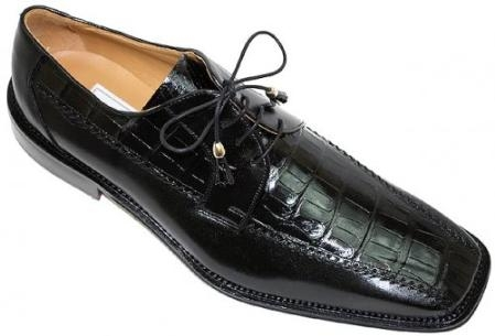 SKU#LA490 Ferrini 3746 Black Genuine Alligator Shoes $269
