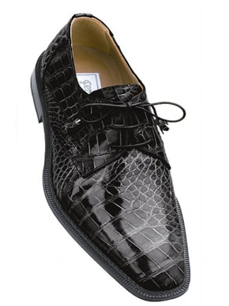 SKU#RN8490 Ferrini All-Over Genuine Alligator Shoes Grey $729