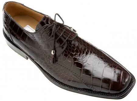 SKU#UM932 Ferrini All-Over Genuine Alligator Shoes Black Cherry