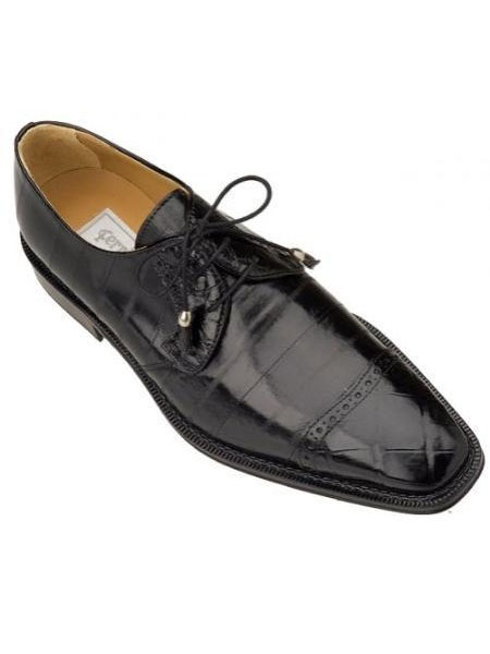 SKU#WM127 Ferrini Black Genuine Alligator/Eel Shoes $769