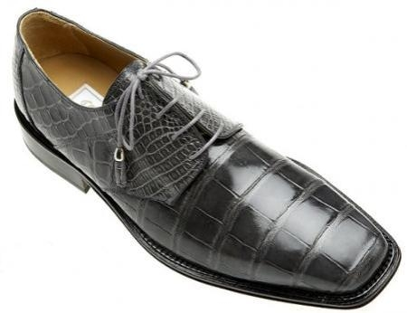 SKU#WM0880 Ferrini Grey All-Over Genuine Alligator Shoes