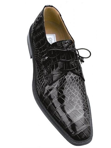 SKU#XY839 Ferrini Grey All-Over Genuine Alligator Shoes