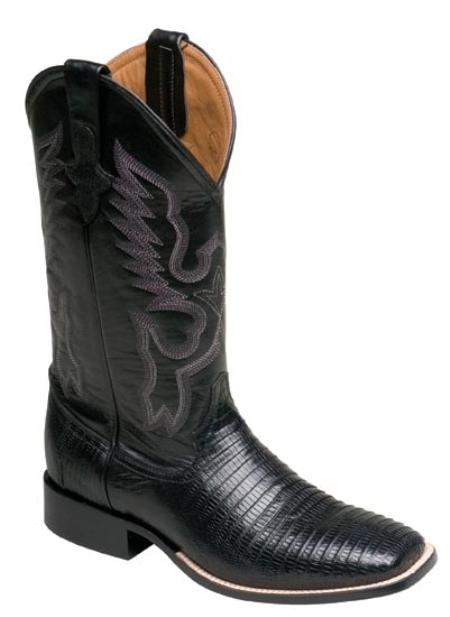 SKU#LA710 Ferrini Men's Cowboy Lizard S-Toe Boots