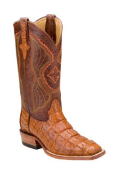 SKU#EF715 Ferrini Mens Hornback Alligator D-Toe Peanut Boots $555