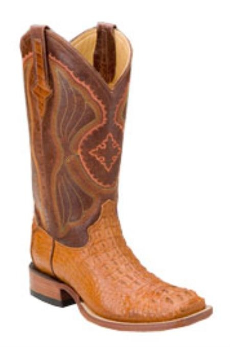 SKU#PC170 Ferrini Mens Hornback Nile Crocodile ~ Alligator S-Toe Boots $555