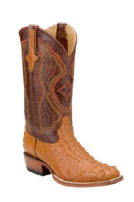SKU#PU611 Ferrini Mens Hornback Nile Crocodile D-Toe Boots $555
