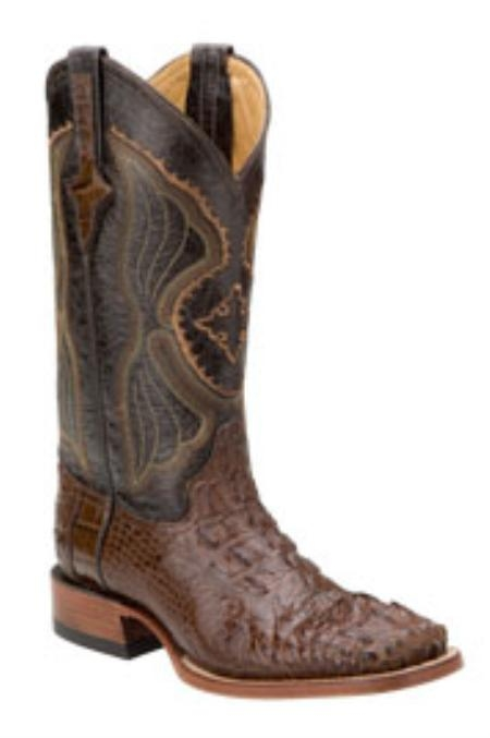 SKU#HA128 Ferrini Mens Hornback Alligator S-Toe Boots $555