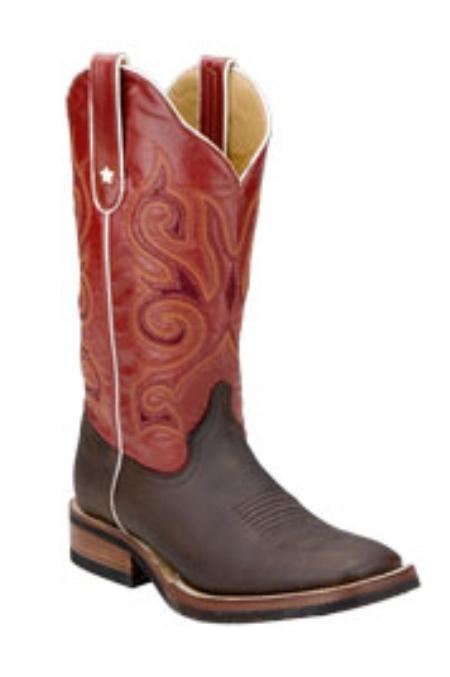 SKU#JM896 Ferrini Mens Nubuck S-Toe Boots $162