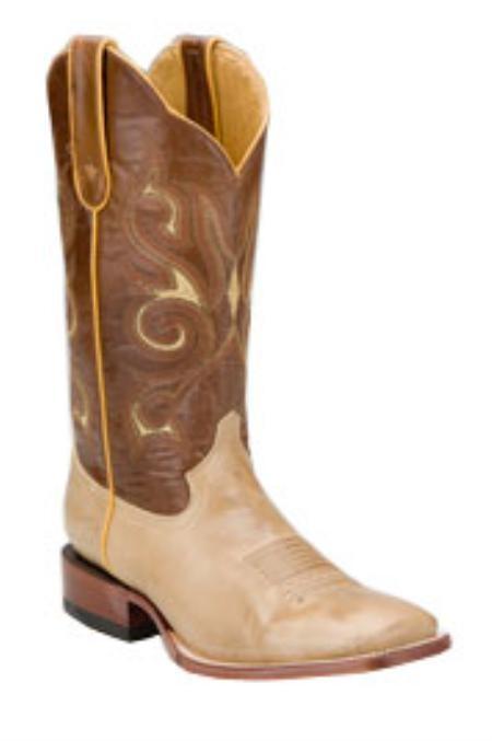 SKU#LH716 Ferrini Mens Nubuck S-Toe Sand Boots $162