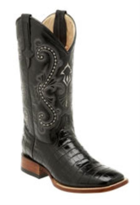 SKU#TA819 Ferrini Mens Print Belly Alligator S-Toe Boots $165