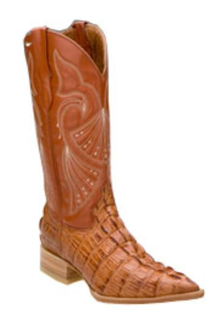 SKU#TG658 Ferrini Mens Print Caiman Crocodile C-Toe $130