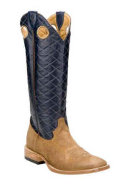 SKU#AK780 Ferrini Mens Rough Out Navy Boots $185
