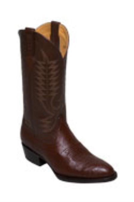 SKU#JA817 Ferrini Mens Smooth Ostrich R-Toe Boots $215
