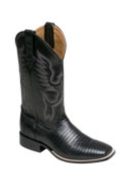 SKU#SE653 Ferrini Mens Teju Lizard S-Toe Boots $255