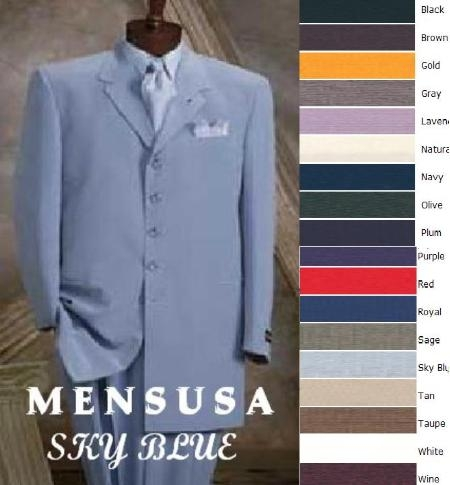 SKU#EMIL_58TA  Festive and Bright Mens Pastel Fashion Zoot Suit in 10 Colors $119