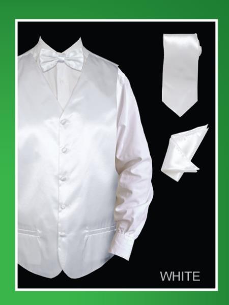 Men's 4 Piece Dress Tuxedo Wedding Waistcoat