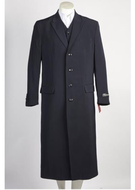 SS-7414 Mens 4 Button Navy Suits