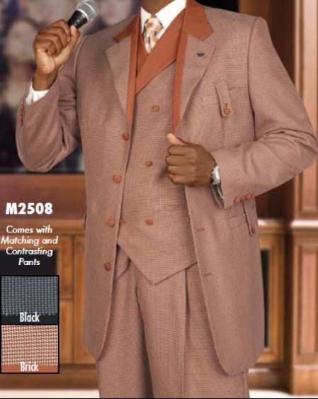 SKU#VB666 Four Piece Single Breasted Suit $249